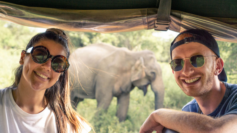 Two Solo Travellers on an Elephant Safari