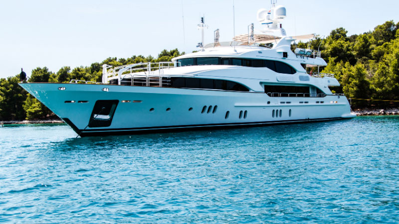 large yacht in the ocean