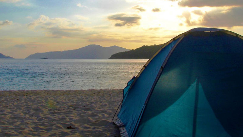 tent on a beach in the philippines