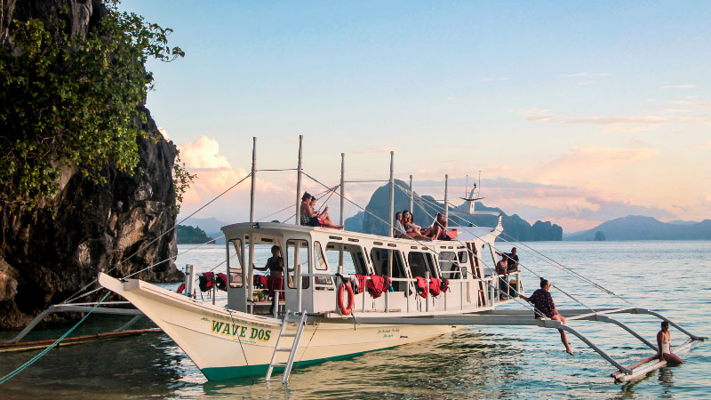 an island hopping tour in the philippines