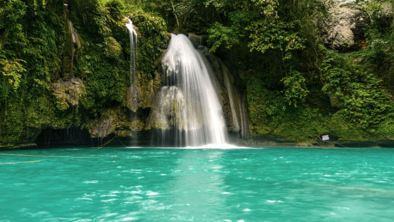 the kawasan falls in the philippines