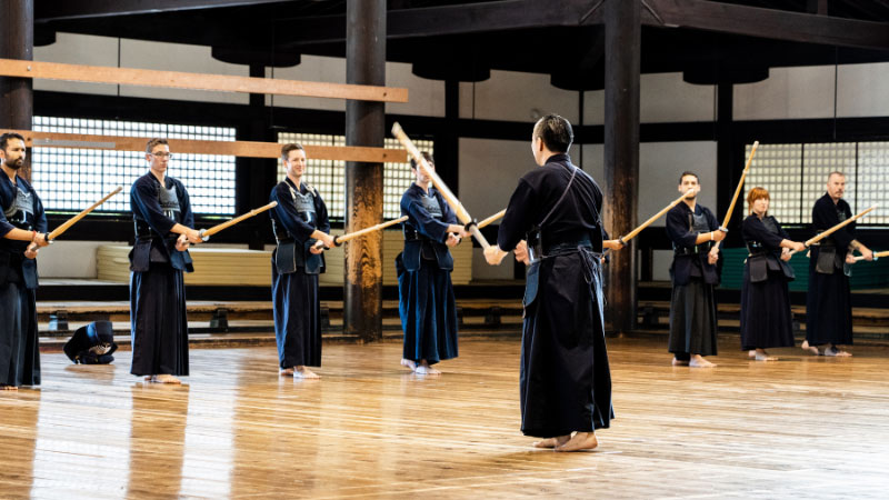 people at a kendo class in japan