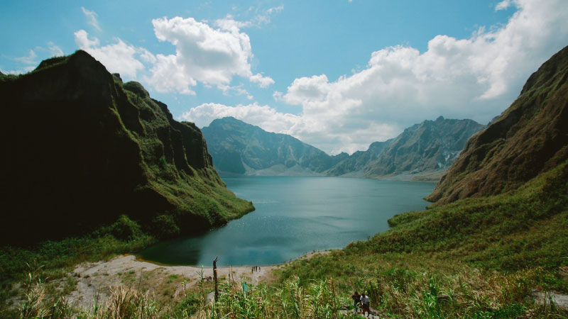 the crater lake of mt pinatubo in the philippines