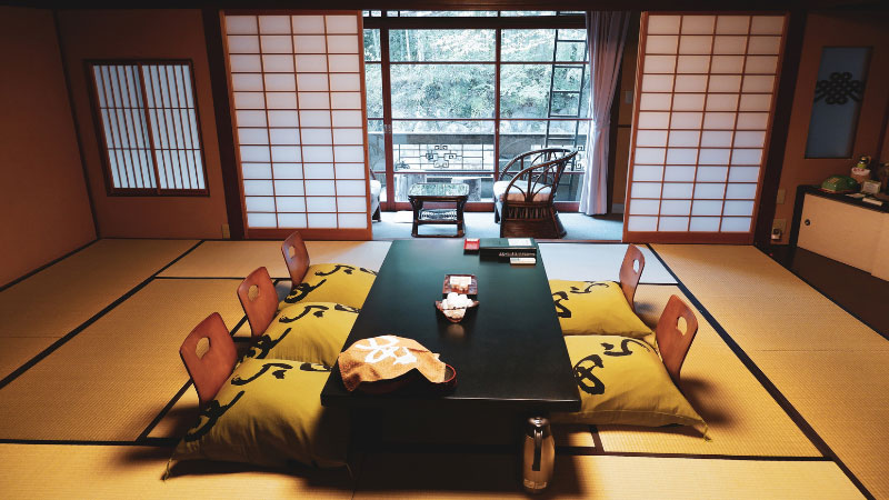 a typical ryokan in japan