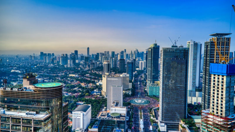 the city of jakarta in indonesia,