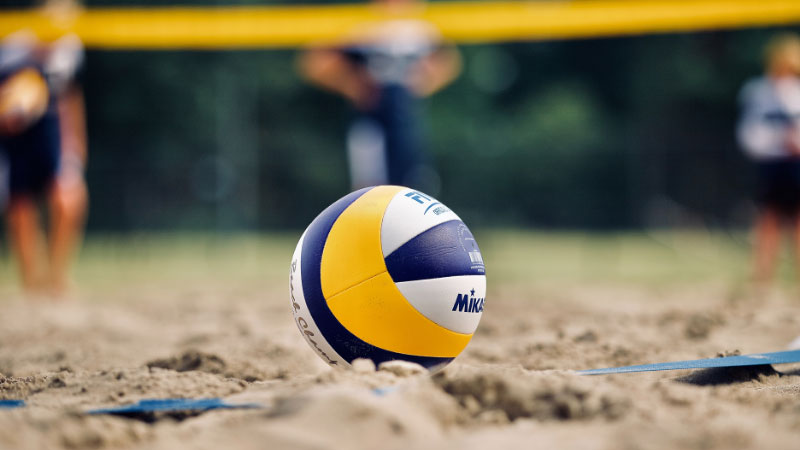 volleyball on a beach