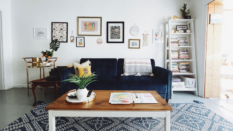 a living room within a house
