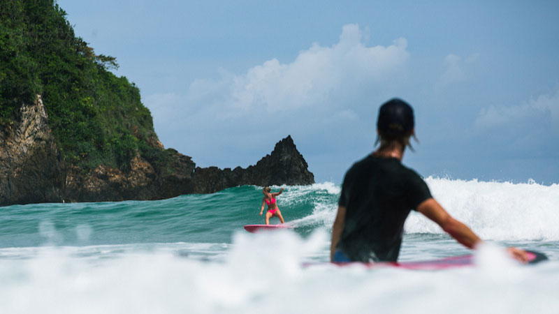 learning to surf at red island surf camp