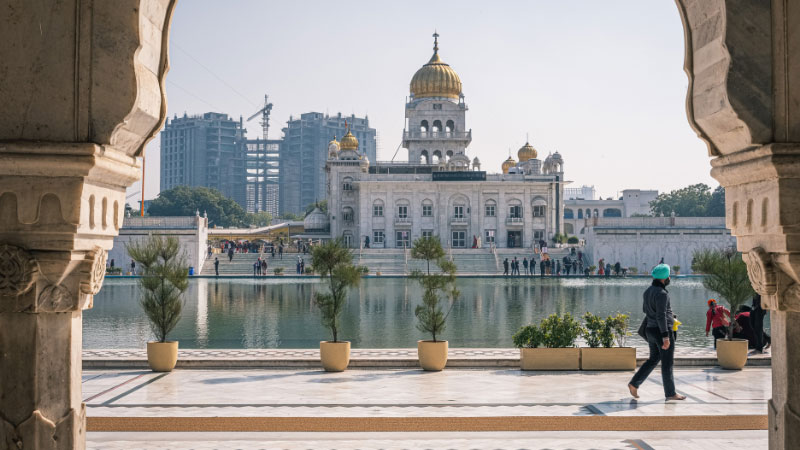 a sikh temple in india